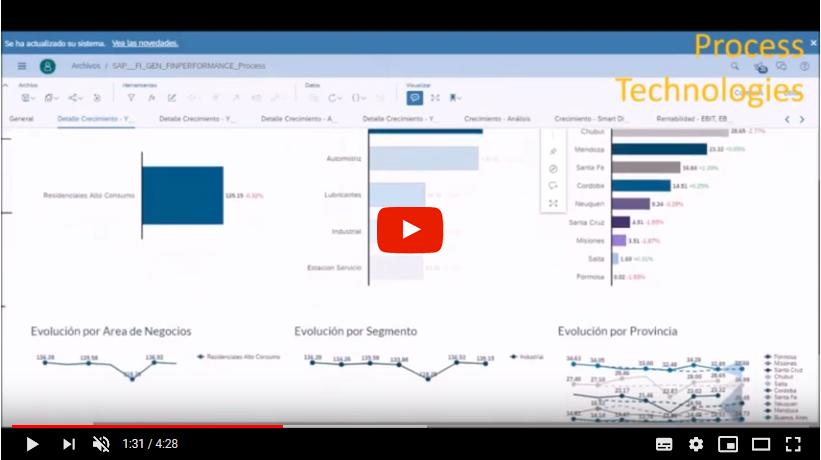 Process Analytics Cloud para CFO SAP